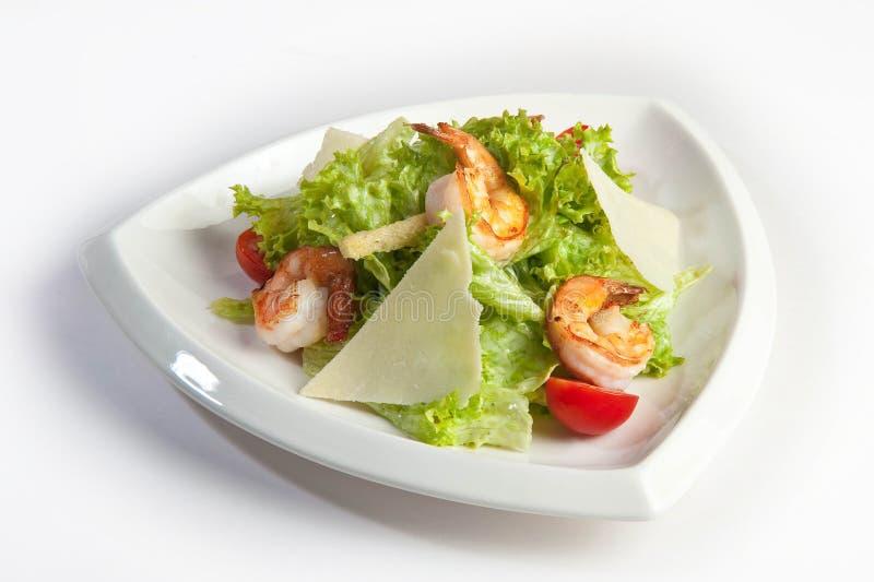 Salada de caesar em uma placa foto de stock royalty free