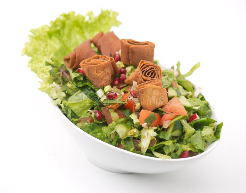 Salada de Fattoush, salada libanesa. fotografia de stock royalty free