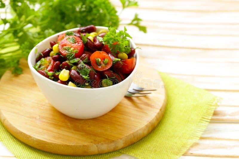 Salada de feijões vermelhos imagem de stock royalty free