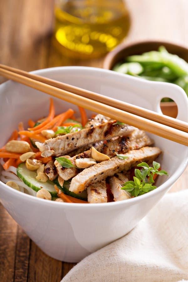 Salada de frango asiática da culinária fotografia de stock royalty free
