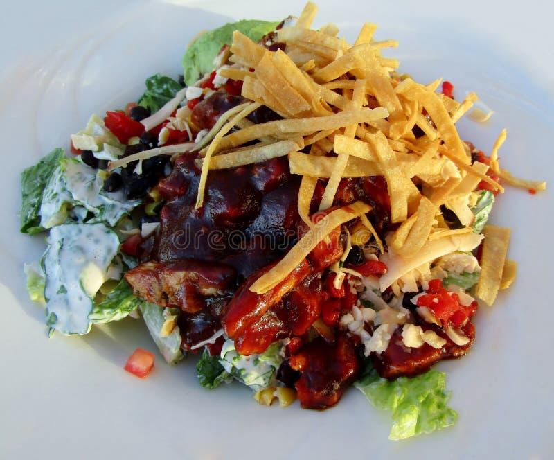 Salada de frango do BBQ imagens de stock