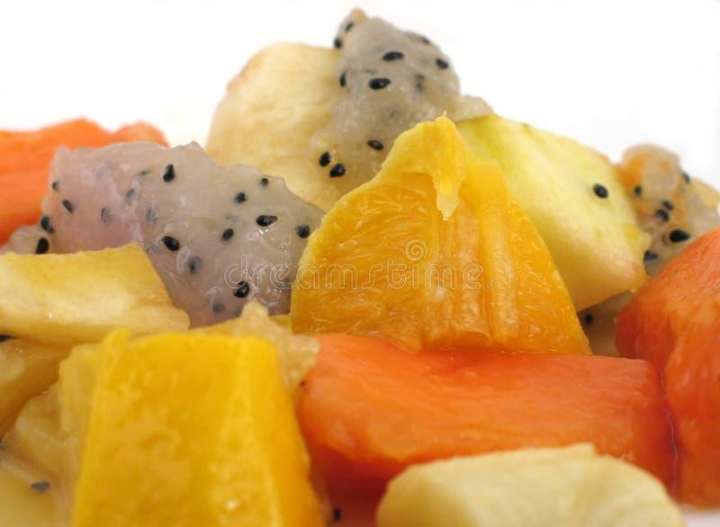 Salada de fruta exótica imagens de stock royalty free