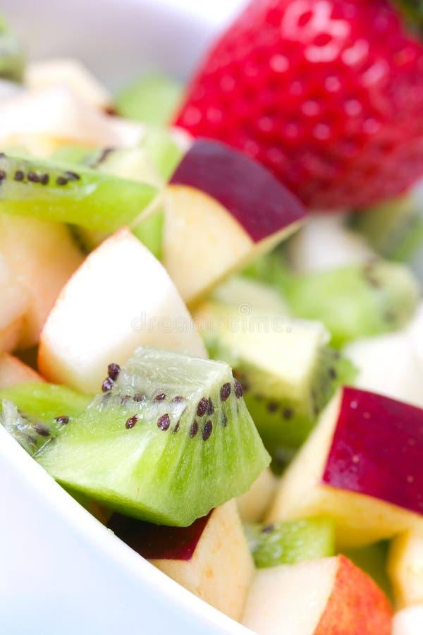 Salada de fruta na placa foto de stock royalty free