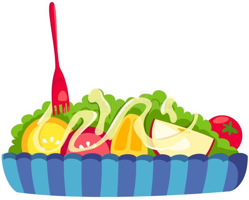 Salada de frutas ilustração stock