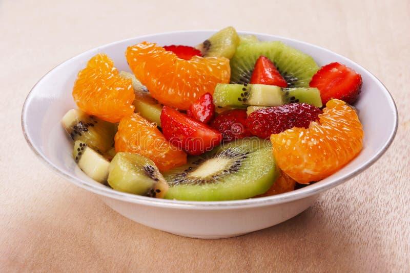 Salada de fruto fotografia de stock