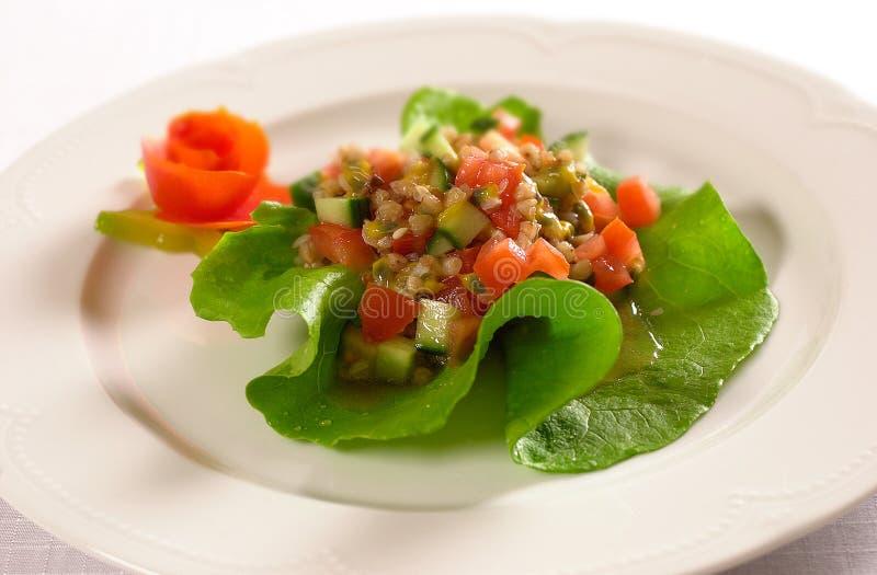 Salada de fruto com fruto do pepino fotos de stock royalty free