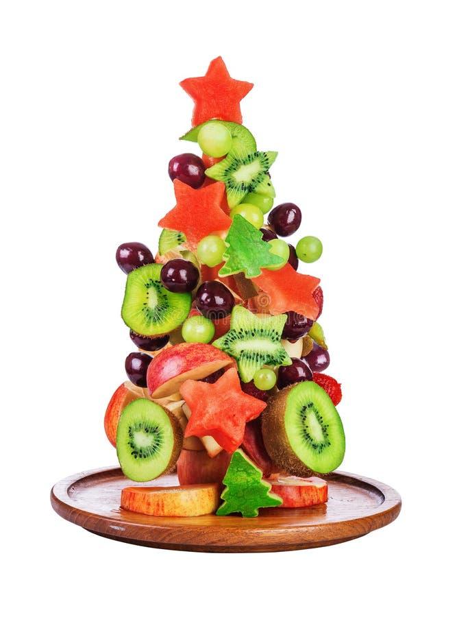 Salada de fruto da árvore do Natal foto de stock