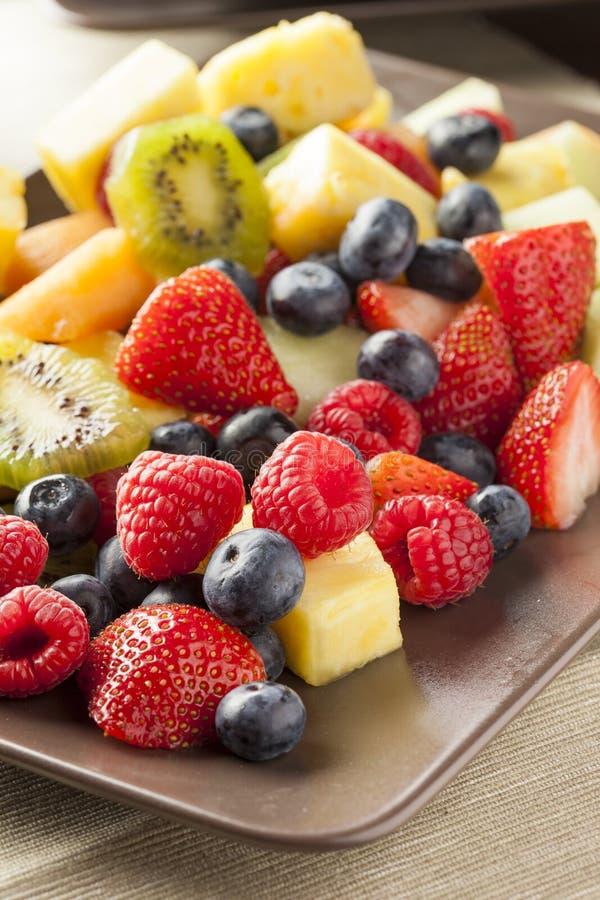 Salada de fruto orgânica fresca fotos de stock