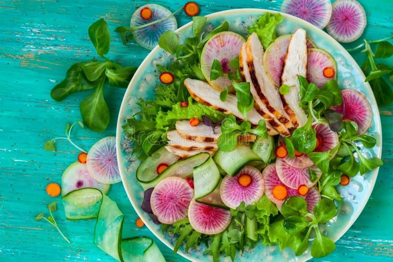 Salada de galinha foto de stock
