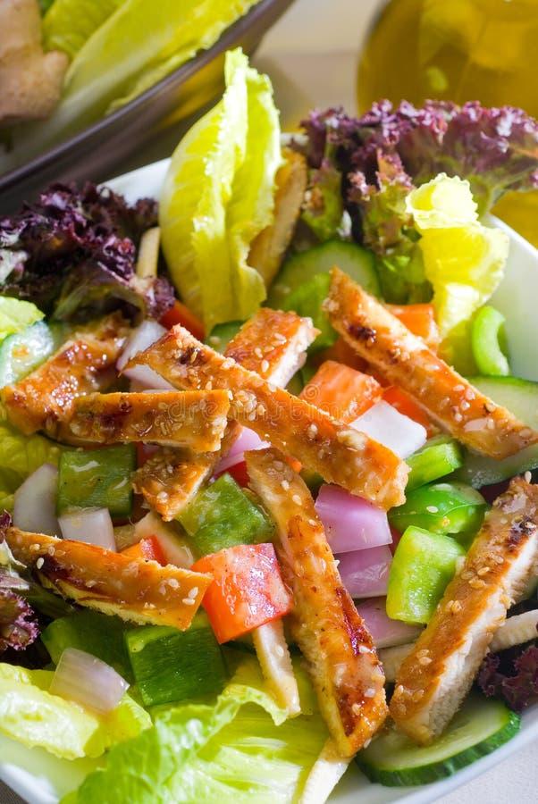 Download Salada De Galinha Do Sésamo Imagem de Stock - Imagem de fresco, closeup: 12804835