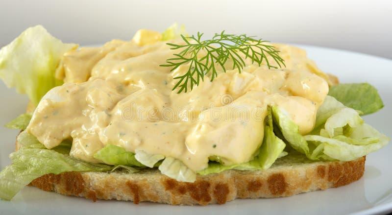 Salada de ovo com maionese fotografia de stock