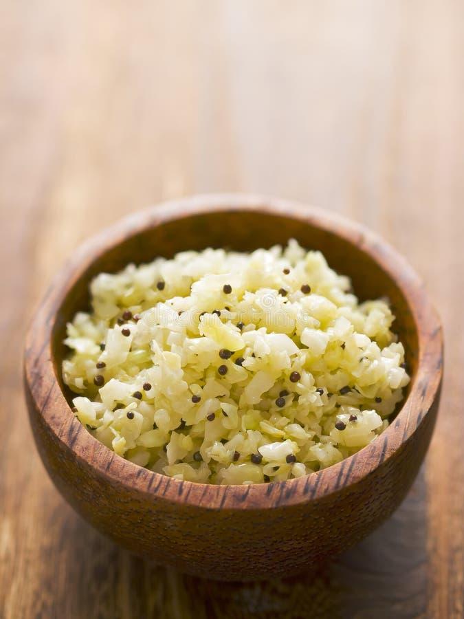 Salada de repolho tangy indiana fotografia de stock royalty free
