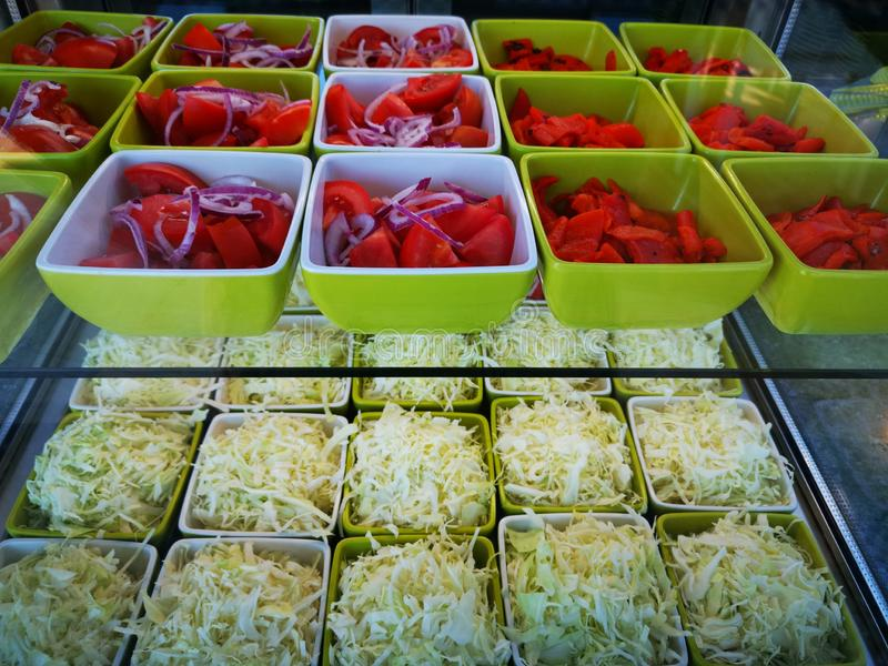 Salada de tomate e de couve imagem de stock