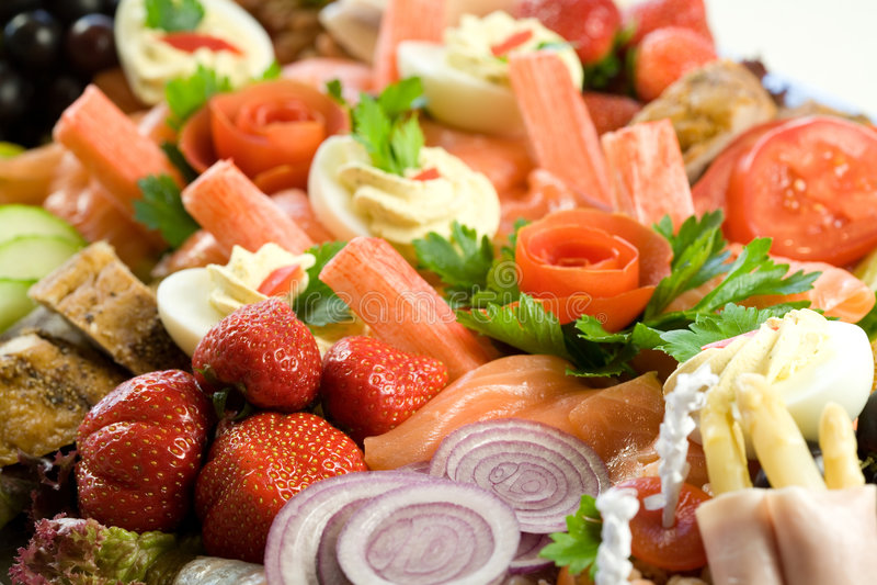Salada deliciosa do alimento fotografia de stock royalty free