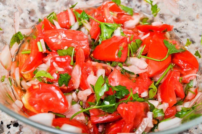 Salada deliciosa do tomate foto de stock