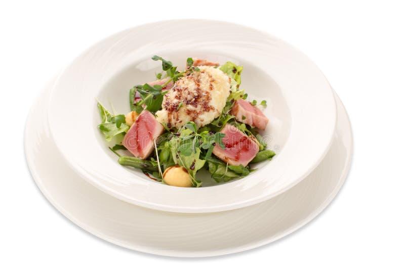 Salada do atum, dos verdes e de feijões verdes imagem de stock royalty free