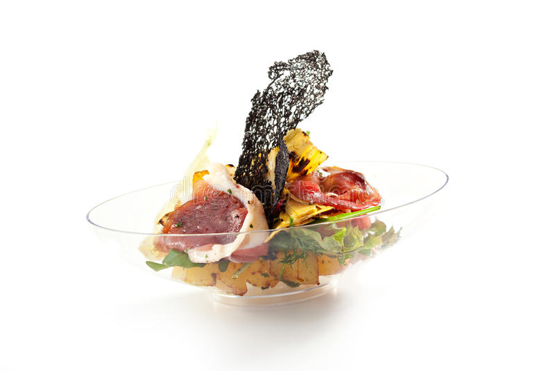 Salada do bufete fotos de stock