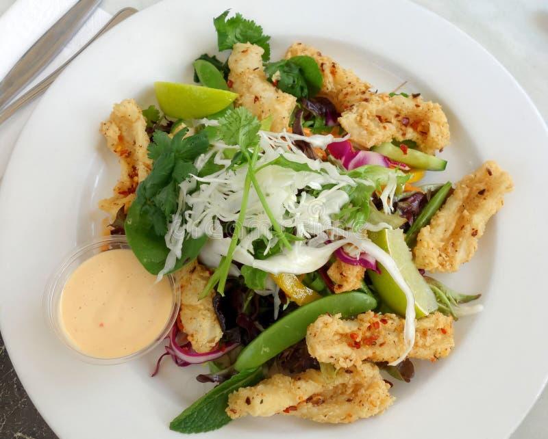 Salada do Calamari foto de stock royalty free