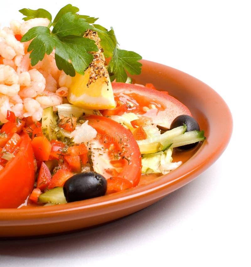 salada do camarão imagens de stock