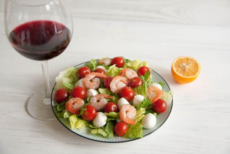 Salada do camarão imagens de stock royalty free