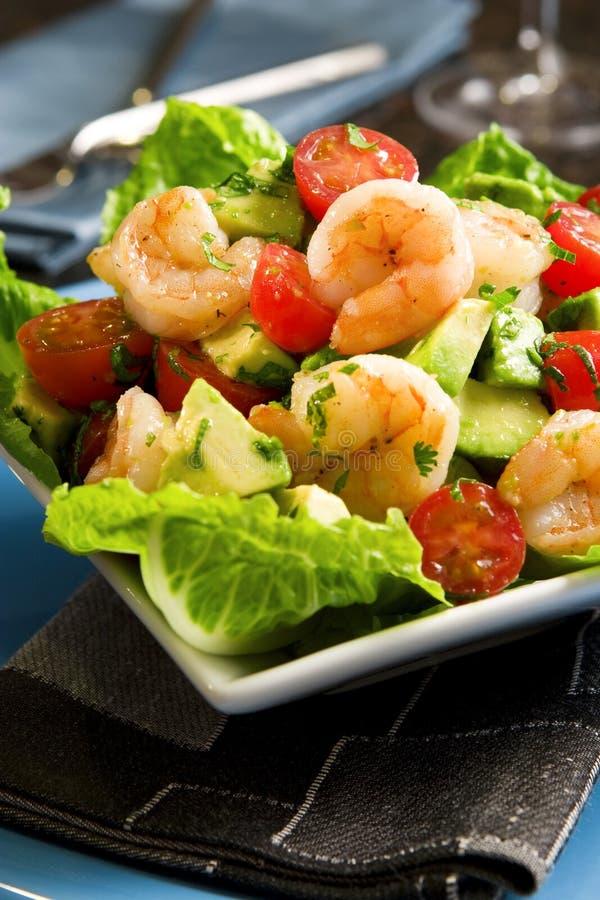 Salada do camarão do abacate imagens de stock royalty free