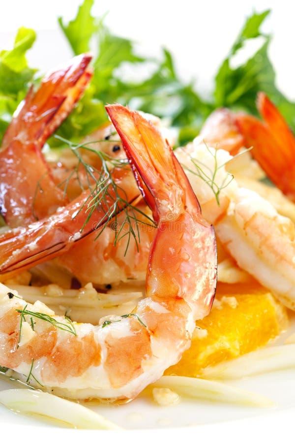 Salada do camarão e da erva-doce fotos de stock royalty free