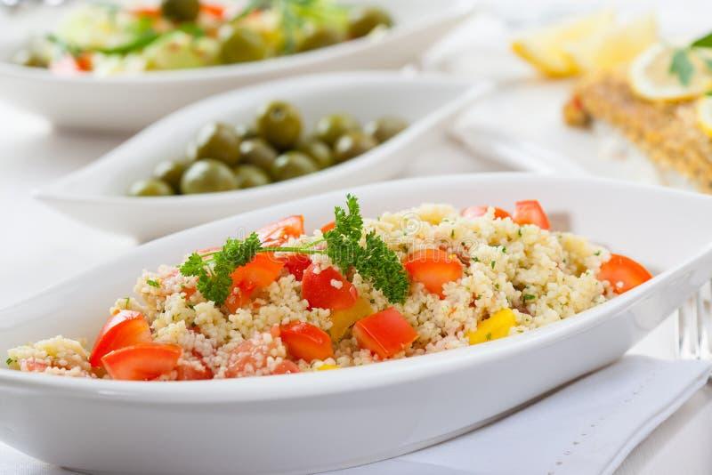 Salada do cuscuz foto de stock