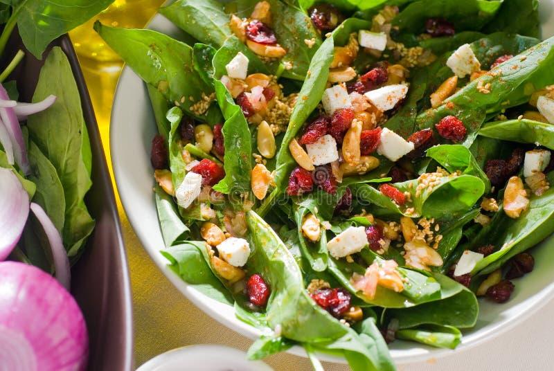 Download Salada do espinafre imagem de stock. Imagem de coma, refeição - 12804995