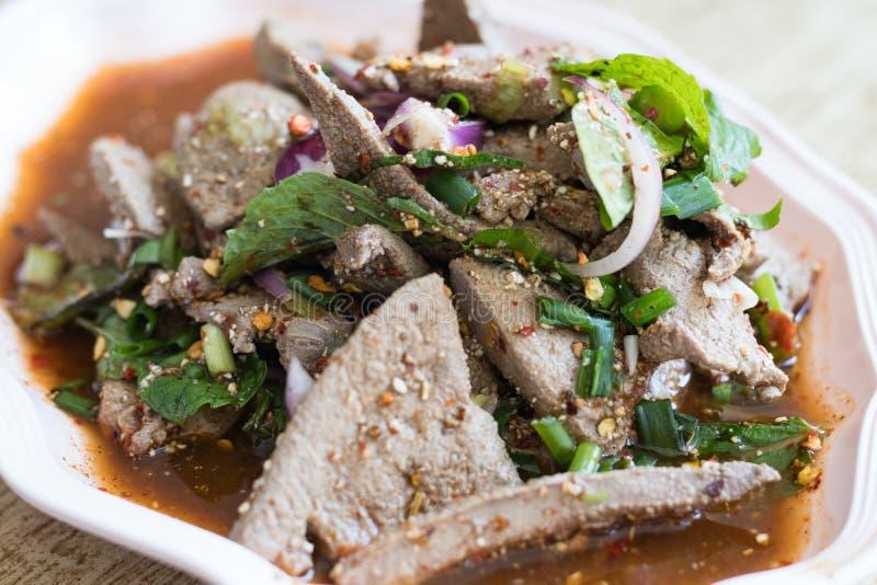 salada do fígado da carne de porco fotos de stock royalty free