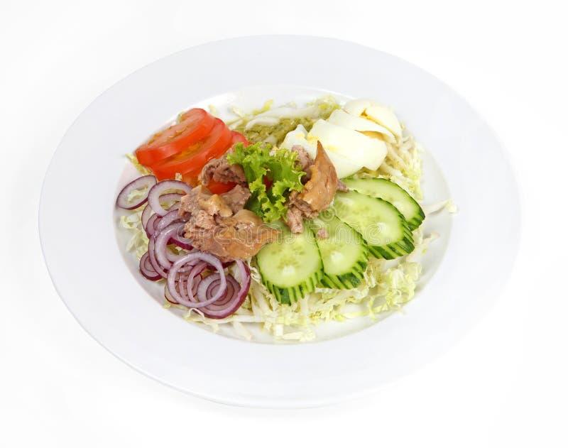Salada do fígado de bacalhau fotografia de stock