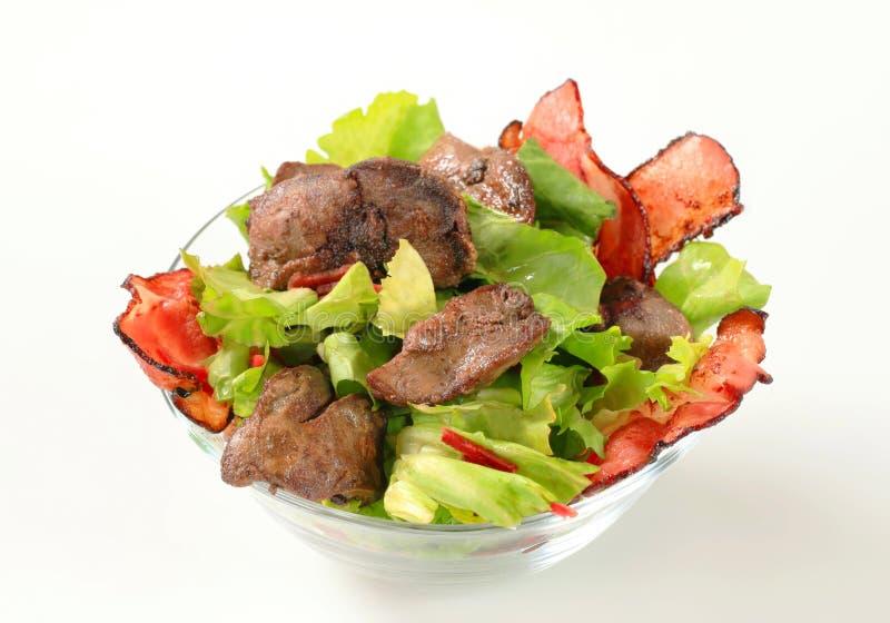 Salada do fígado de galinha fotos de stock
