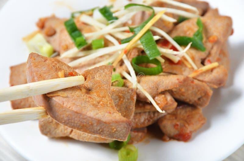 salada do f?gado da carne de porco foto de stock