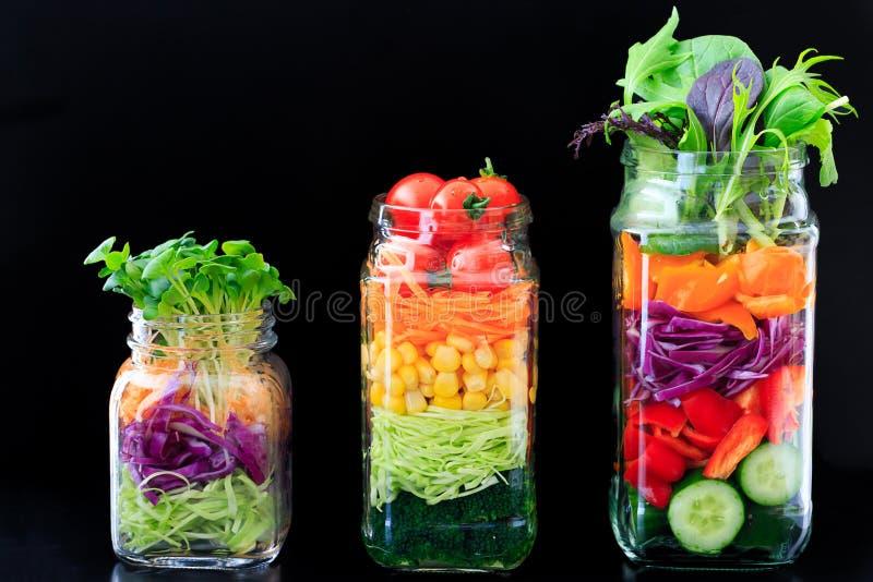Salada do frasco imagens de stock royalty free