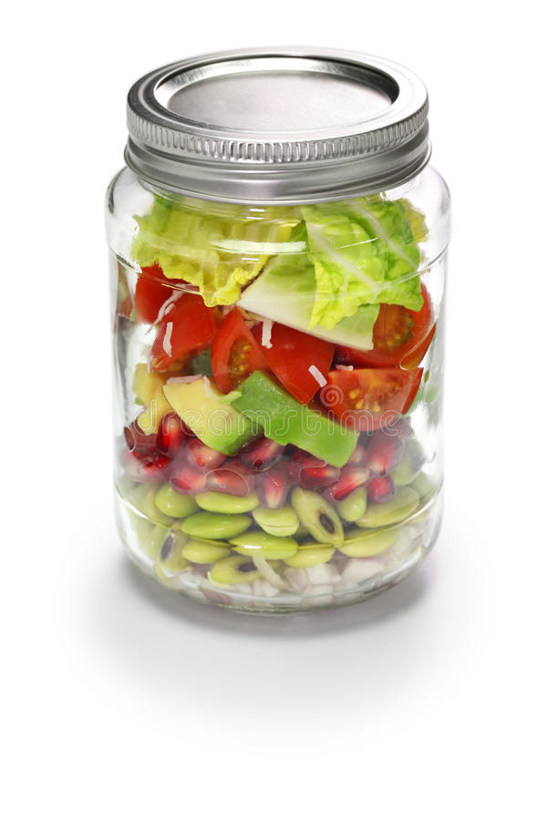 Salada do frasco imagens de stock