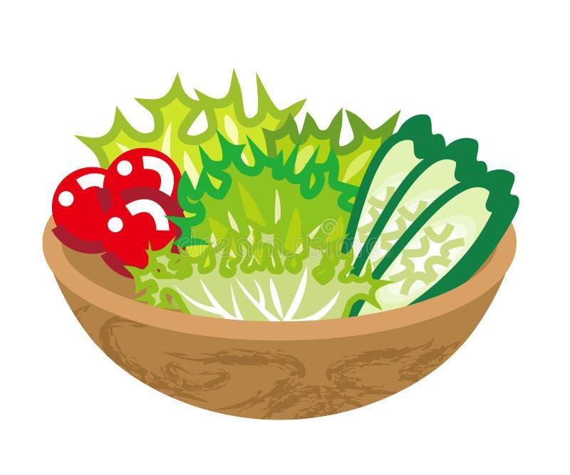 Salada do frescor ilustração stock