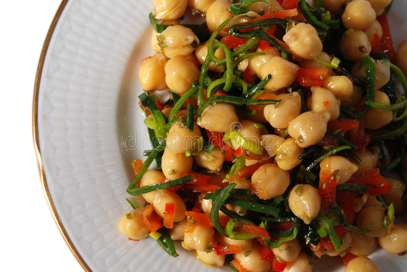 Salada do grão-de-bico fotos de stock