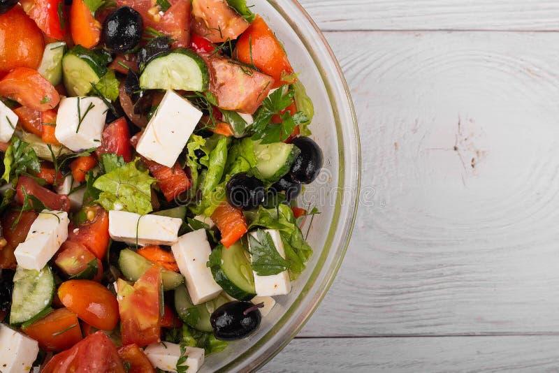 Salada do grego dos legumes frescos fotos de stock royalty free