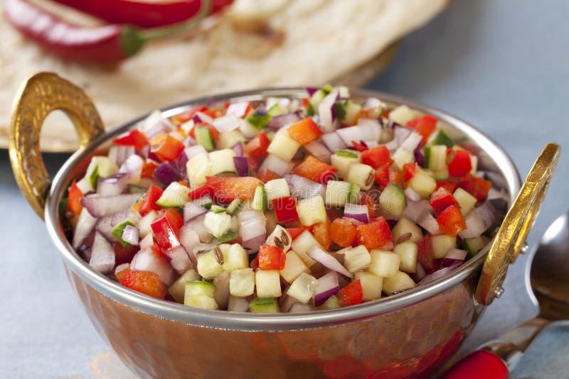 Salada do indiano de Kachumber imagens de stock royalty free