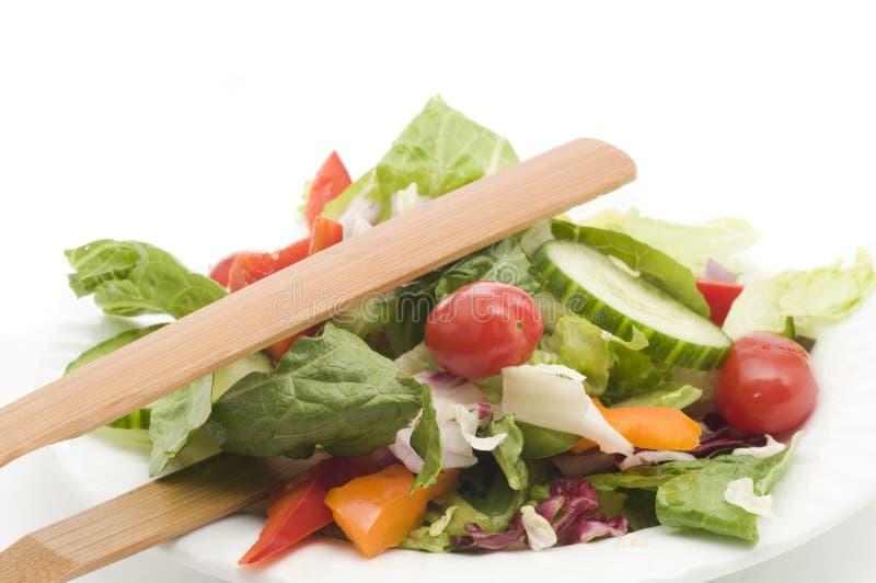 Download Salada do jardim no branco imagem de stock. Imagem de isolado - 29837479