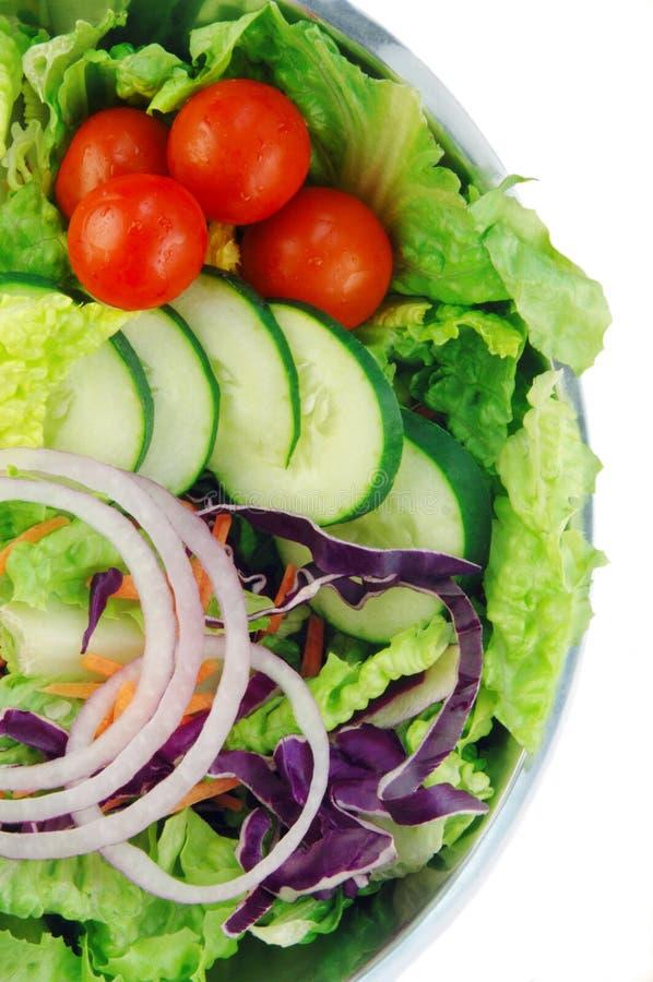 Salada do jardim no fundo branco fotos de stock royalty free