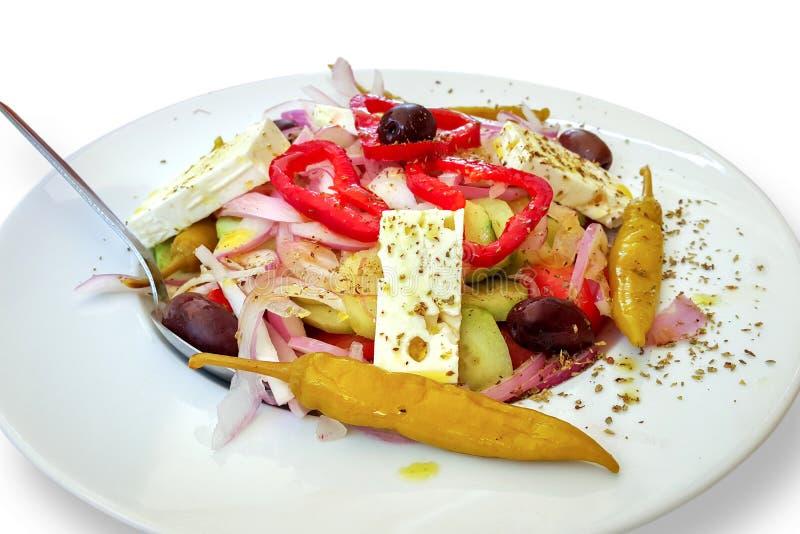 Salada do legume fresco no branco imagens de stock