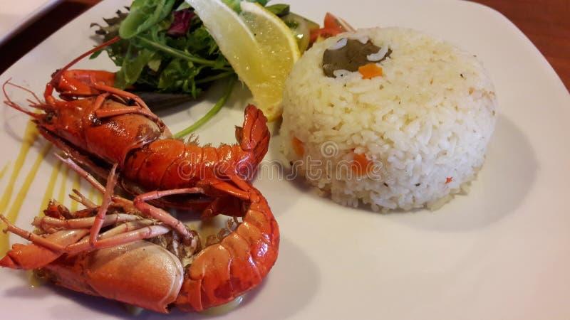 Salada do limão do arroz da lagosta imagem de stock royalty free