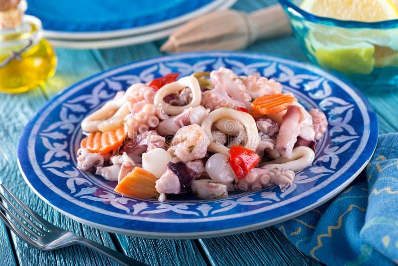 Salada do marisco fotografia de stock royalty free