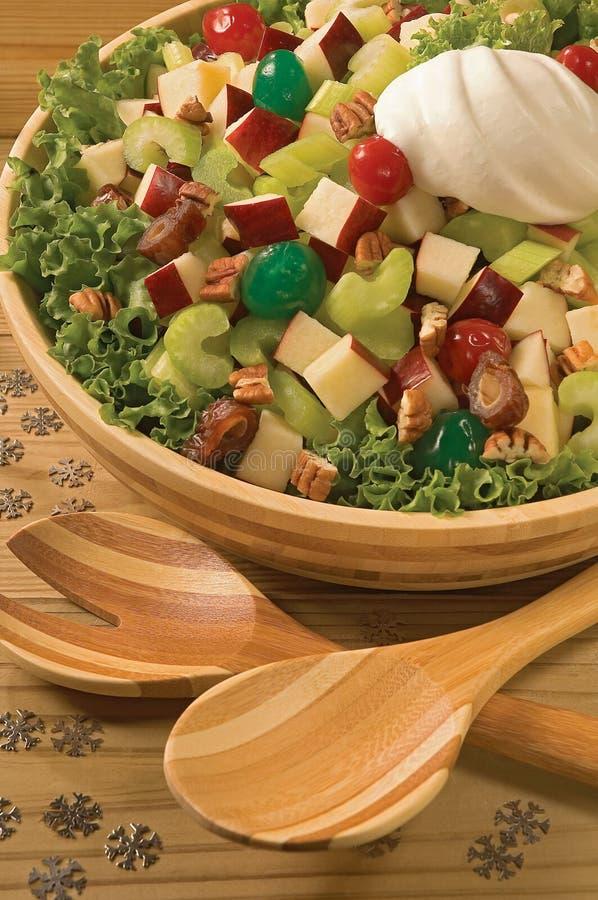 Salada do Natal fotos de stock