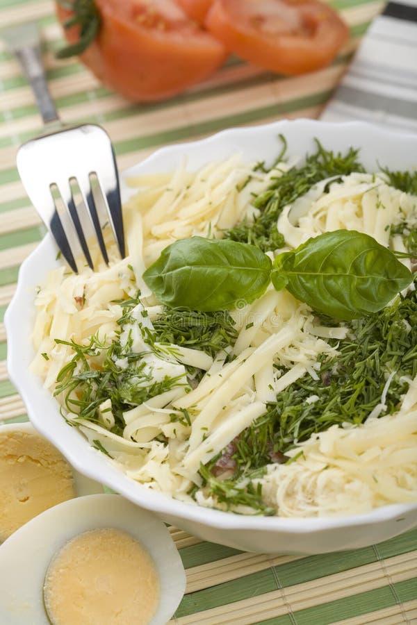 Salada do ovo e do queijo foto de stock