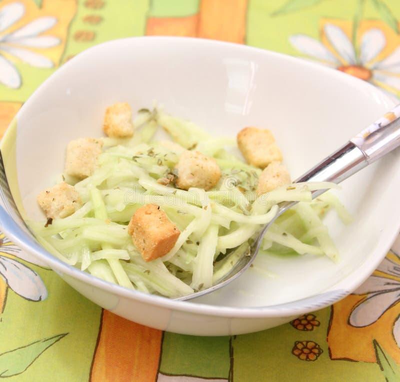 Salada do pepino fotos de stock royalty free