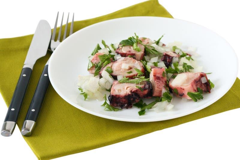 Salada do polvo imagem de stock