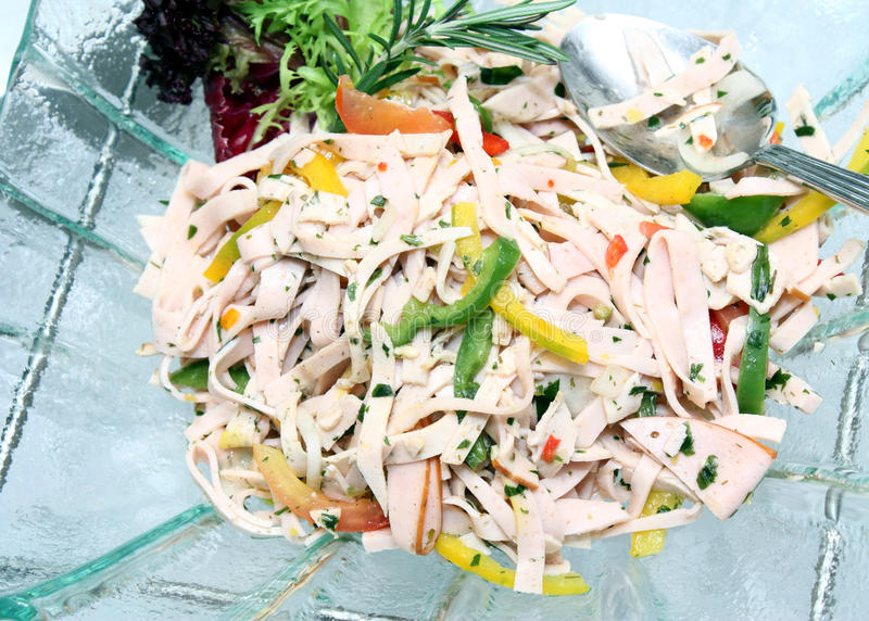 Salada do presunto imagem de stock royalty free