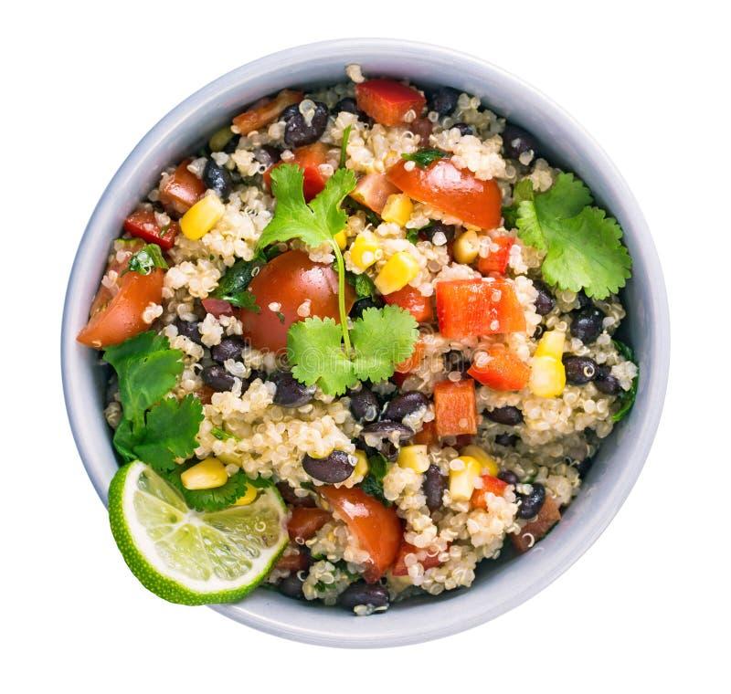 Salada do quinoa do feijão preto imagens de stock