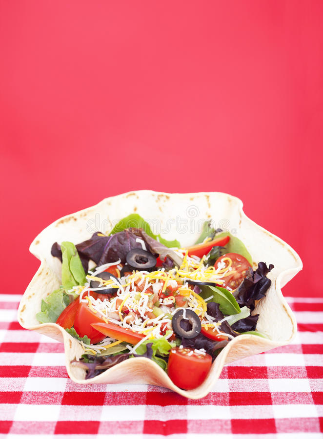 Salada do Taco imagem de stock royalty free